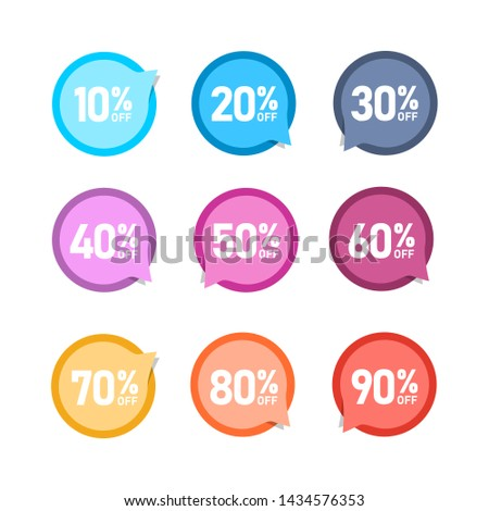 Sale of special offers. Discount with the various price. Set of sale tag. An ad with a colourful tag for an advertising campaign at retail on the day of purchase. vector illustration.