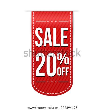 Sale 20 Off Banner Design Over A White Background Vector Illustration