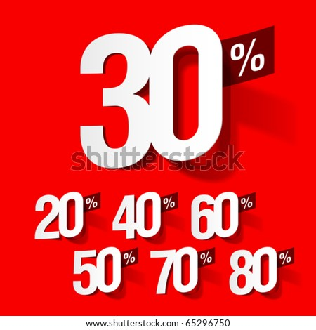 Sale percents. Vector. - stock vector