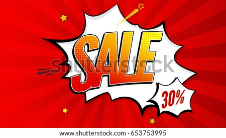 sale pop art splash background