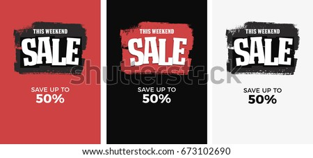 Sale Poster, Banner, Black Friday Sale