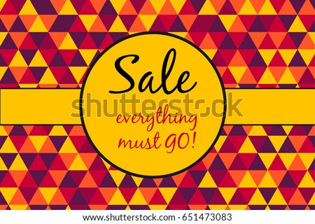 sale poster  everything must go