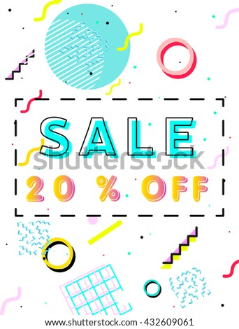 sale poster with geometric