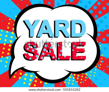 Yard Sale Sign poster Vector Design - Download Free Vector Art ...