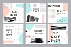Sale posters. Vector illustration