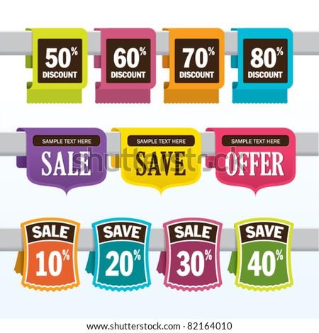 Sale promotion design elements