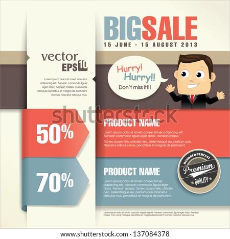 Sale Promotion Design Template Stock Vector 137084378