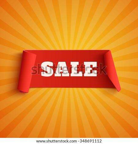 sale  red banner on orange
