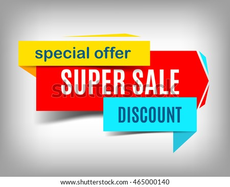 Sale red banner. Super sale poster design. Discount poster, special offer. Sale tag. Sale image. Sale art. Sale sicker. Sale poster. Sale design. Vector illustration, eps 10