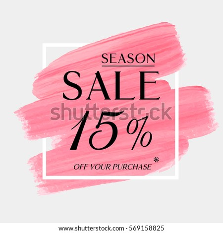 sale season 15  off sign over