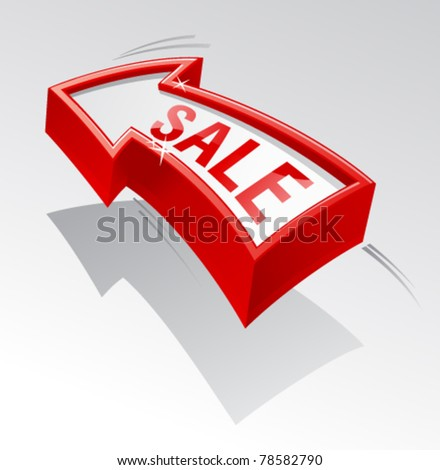 Sale shiny arrow for banner.