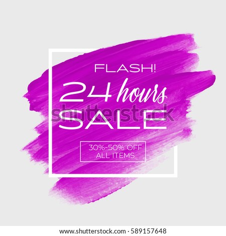 sale special '24 hours' sign