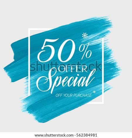 sale special offer 50  off sign