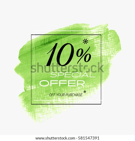 sale special offer 10  off sign