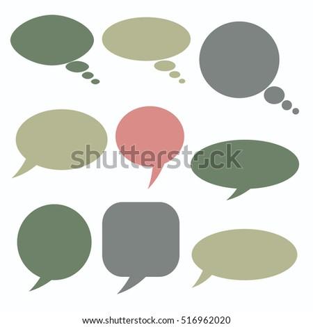 sale speech bubbles  talk