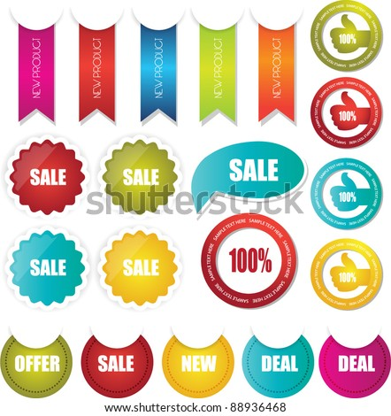 sale sticker badge stamp and tags