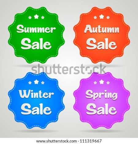 Sale stickers for all seasons