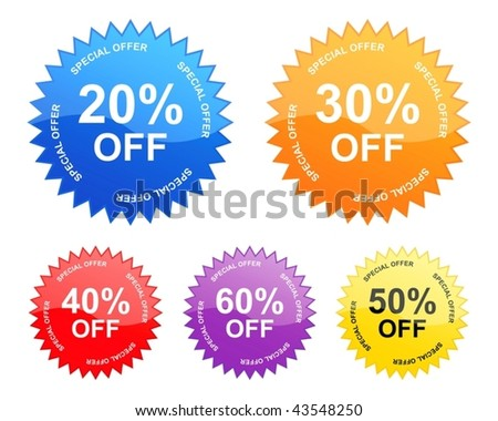 sale stickers (vector)