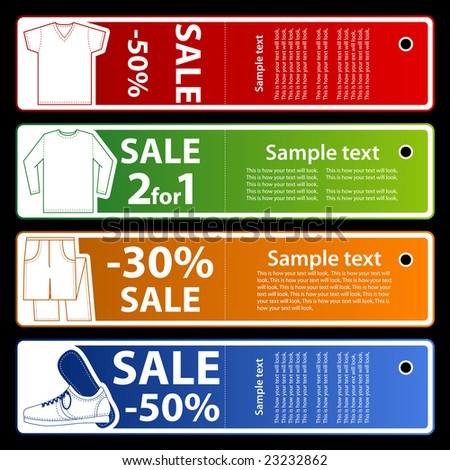 Sale store banners