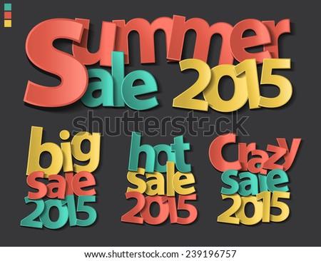 sale tag 2015 folding paper