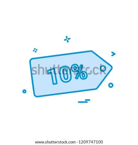 Sale tag icon design vector