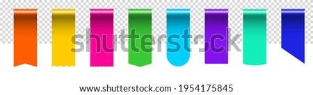 sale tag silk ribbon bookmark