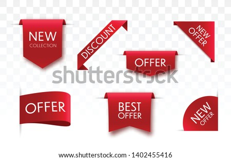 Sale tags collection. Vector badges and labels isolated.