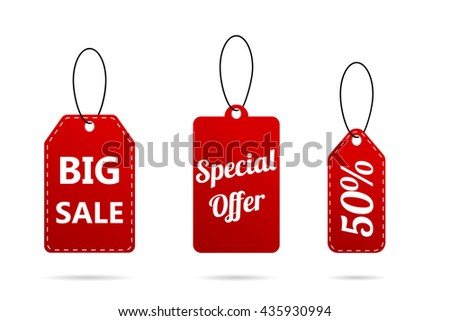 Sale tags in set. Modern design sale tags #435930994