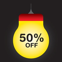 Sale tags,Price,Discount,Big sale,Red,Yellow color, bulb shape,flash  professional vector illustration