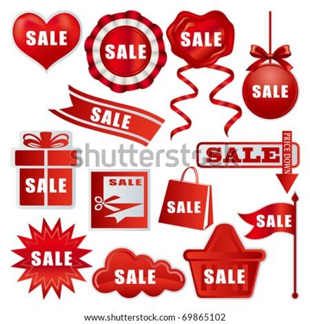 Sale tags set. Illustration vector.