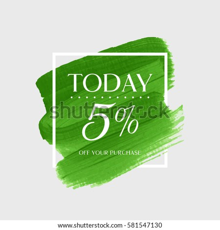 sale today 5  off sign over art