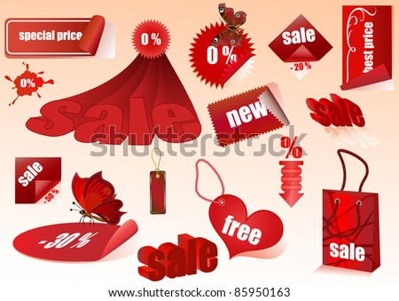 Sale vector design elements isolated. - stock vector