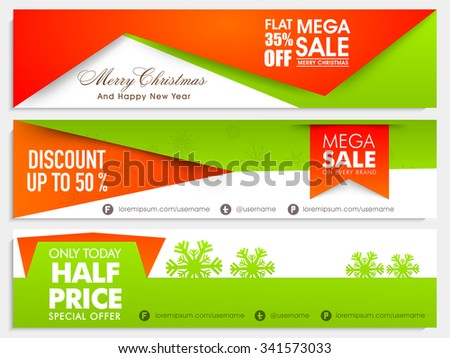 sale website header or banner