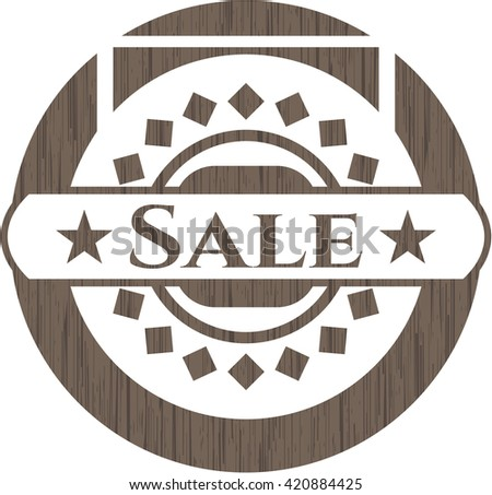 Sale wood emblem. Retro