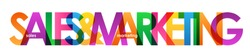 SALES & MARKETING colorful letters banner
