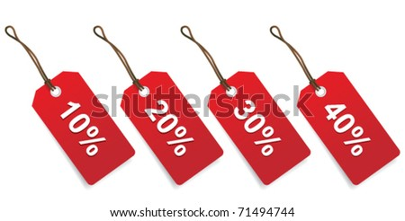 sales price tags - stock vector