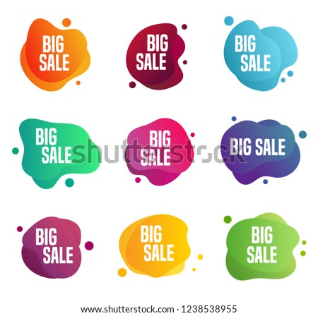 Sales stickers - labels. Can be used for any commercial discount event.
