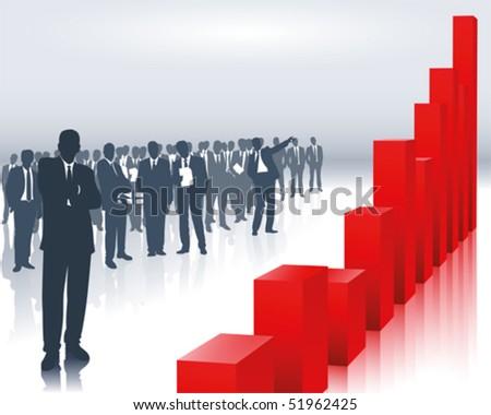 sales trend - stock vector
