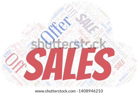 Sales. Word Cloud. Word cloud Made With Text.