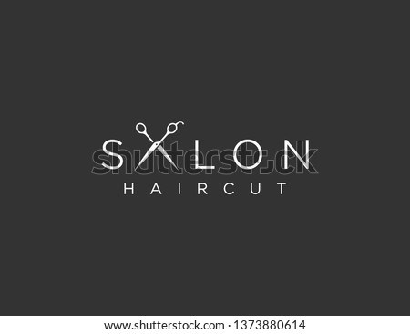Salon Haircut Logo Template Design Vector