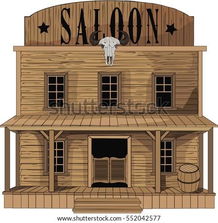 saloon   vector art   old west...