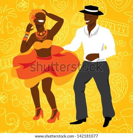 salsa dancers cuban couple