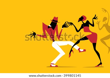 Shutterstock Salsa / Samba / Rumba / Latin Dance, Couple Dancing (Vector Art)
