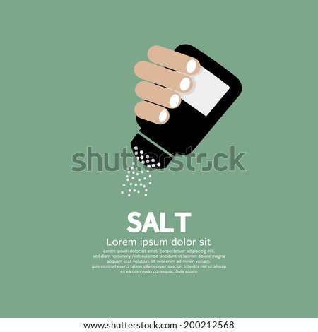 Salt Bottle In Hand Vector Illustration