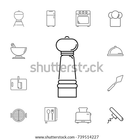 salt maid set of kitchen icons
