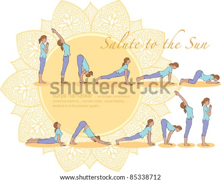 Yoga Sun Salutation c Salute to The Sun Yoga Poses