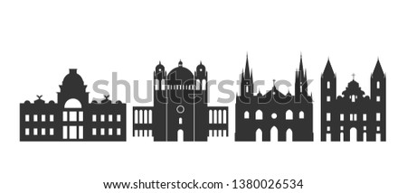 Salvador logo. Isolated Salvador   architecture on white background