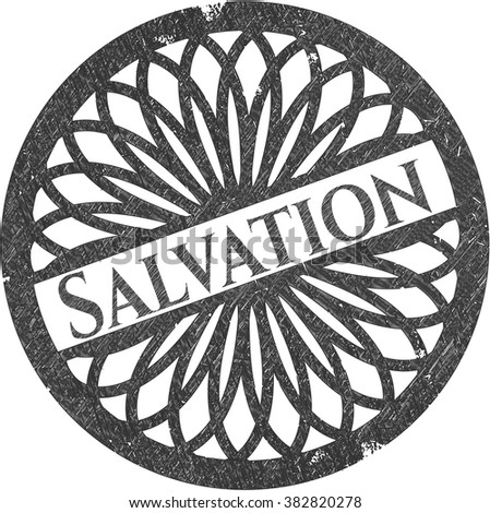 Salvation drawn in pencil