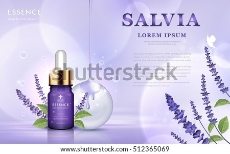 salvia cosmetic ads  essence