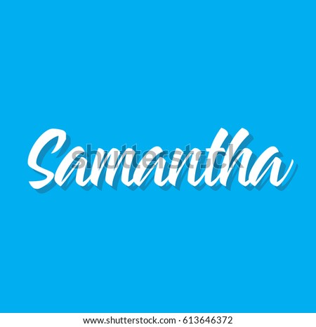samantha  text design vector